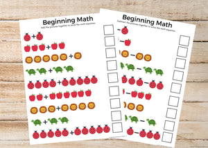 Intro to Addition & Subtraction Math Worksheets