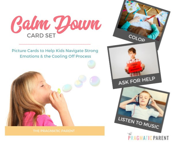Calm Down Picture Cards for Kids