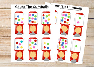 Gumball Counting Worksheets