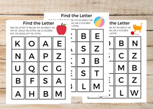 ABC Letter Recognition Worksheets