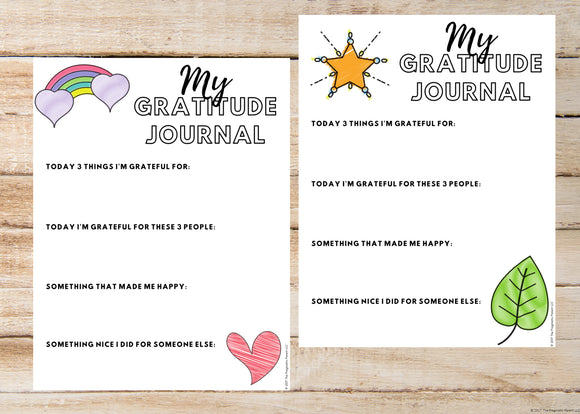 Kid's Gratitude Journal Printables