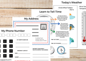 Life Skills Activity Sheets for Kids