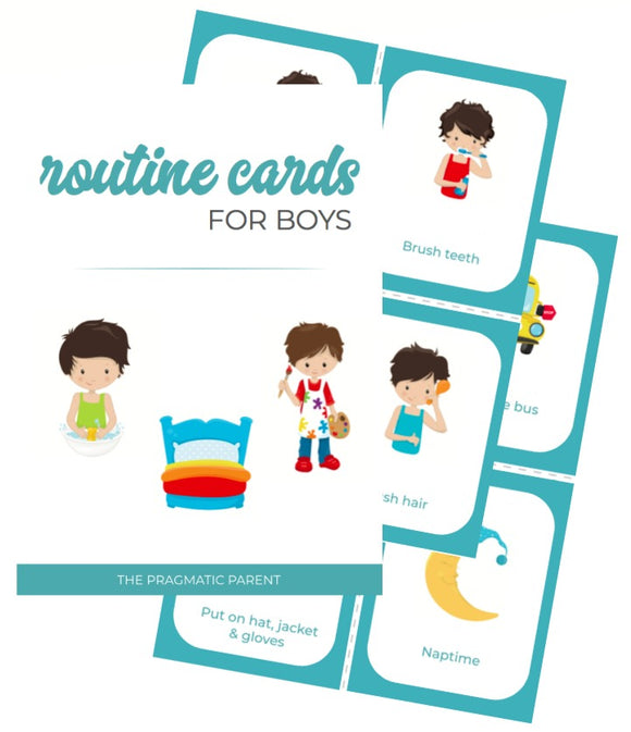 Boy's Daily Routine & Chore Cards (80)