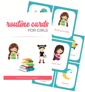 Girl's Daily Routine & Chore Cards (80)