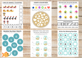 Numbers & Counting BUNDLE (45 Worksheets)