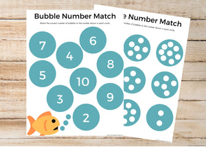 Bubble Counting Worksheet