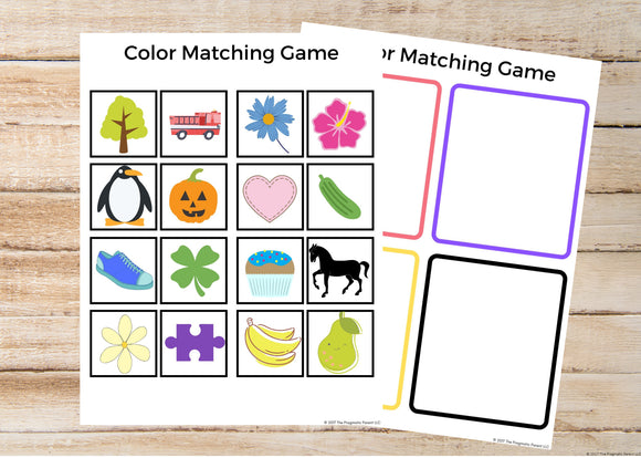 Color Sorting Worksheets