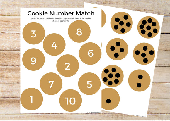 Cookie Counting Number Worksheet