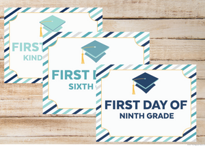 First & Last Day of School Signs & Question Memory Book
