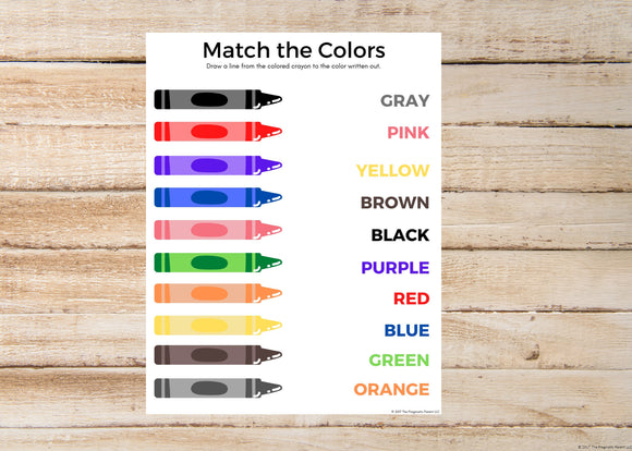 Match the Colors Worksheet