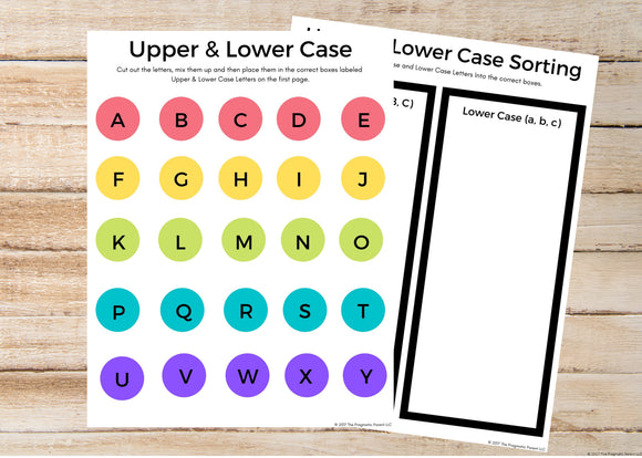 Upper & Lower Case ABC Sorting Activity