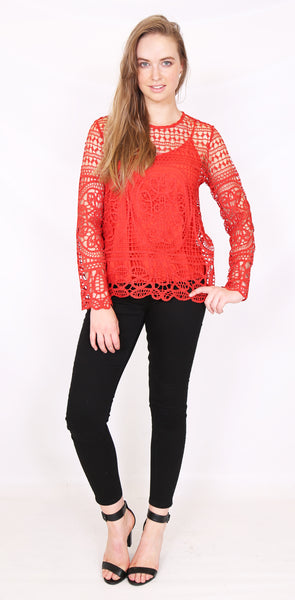 Amber Lace Top