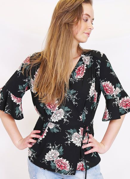 Bloom Wrap top