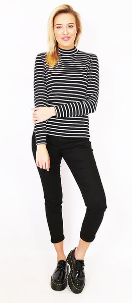 Mock Turtle Neck Top