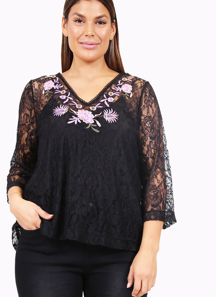 Voilet Lace tee
