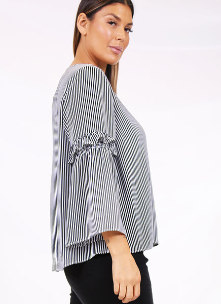 Bande frill sleeve top
