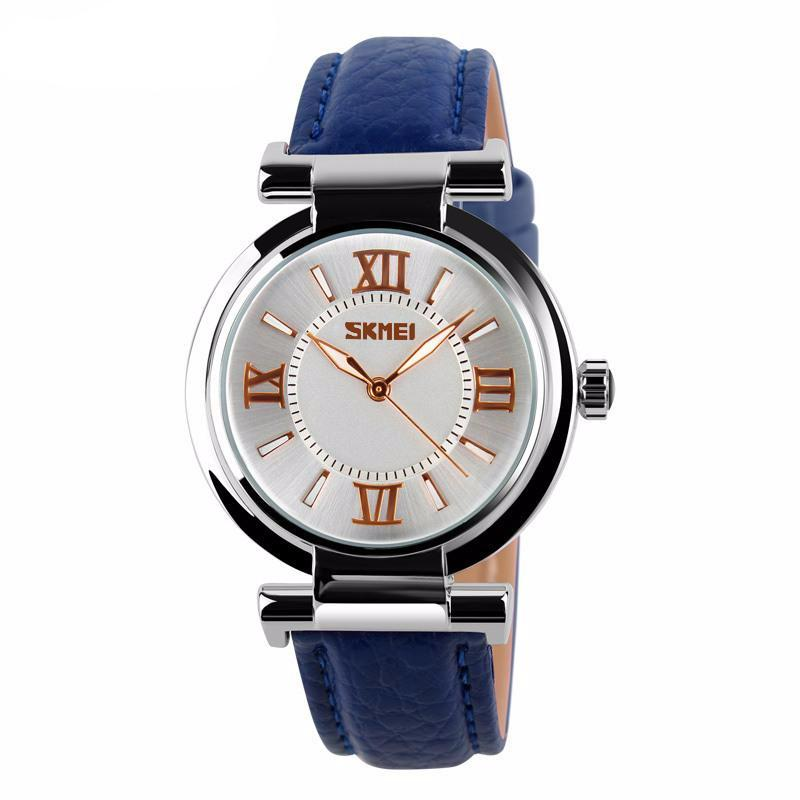 women's luxury leather strap wristwatch