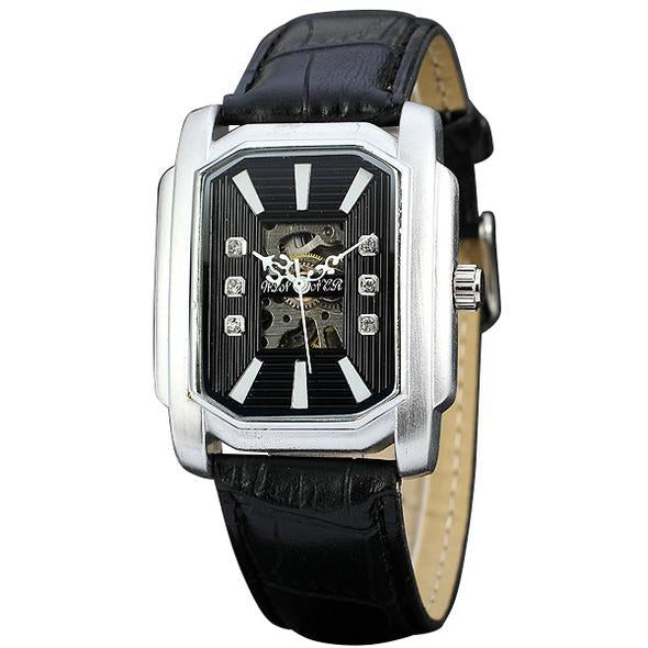 Luxury Crystal Decorated Skeleton Dial Watch