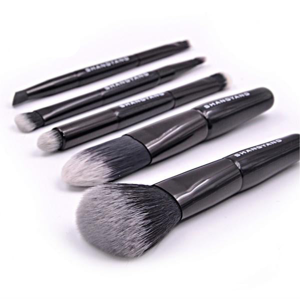 5 Mini Travel Makeup Brush Set with Pouch [Shop 4 colors]