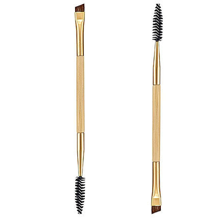 Double Ended Bamboo Eyebrow Brush and Comb