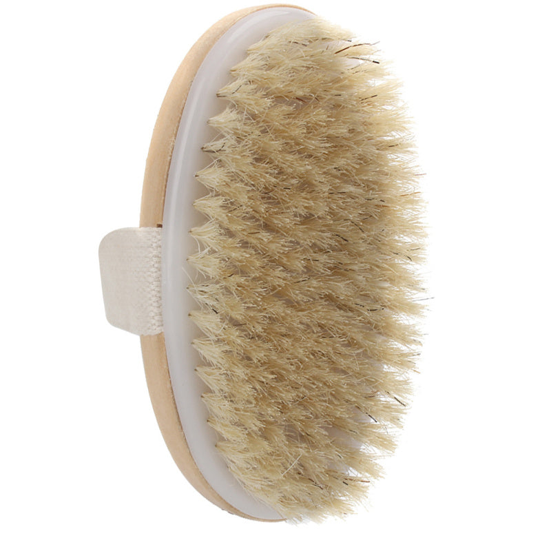 Natural Bristle Dry Brush Exfoliating Body Brush