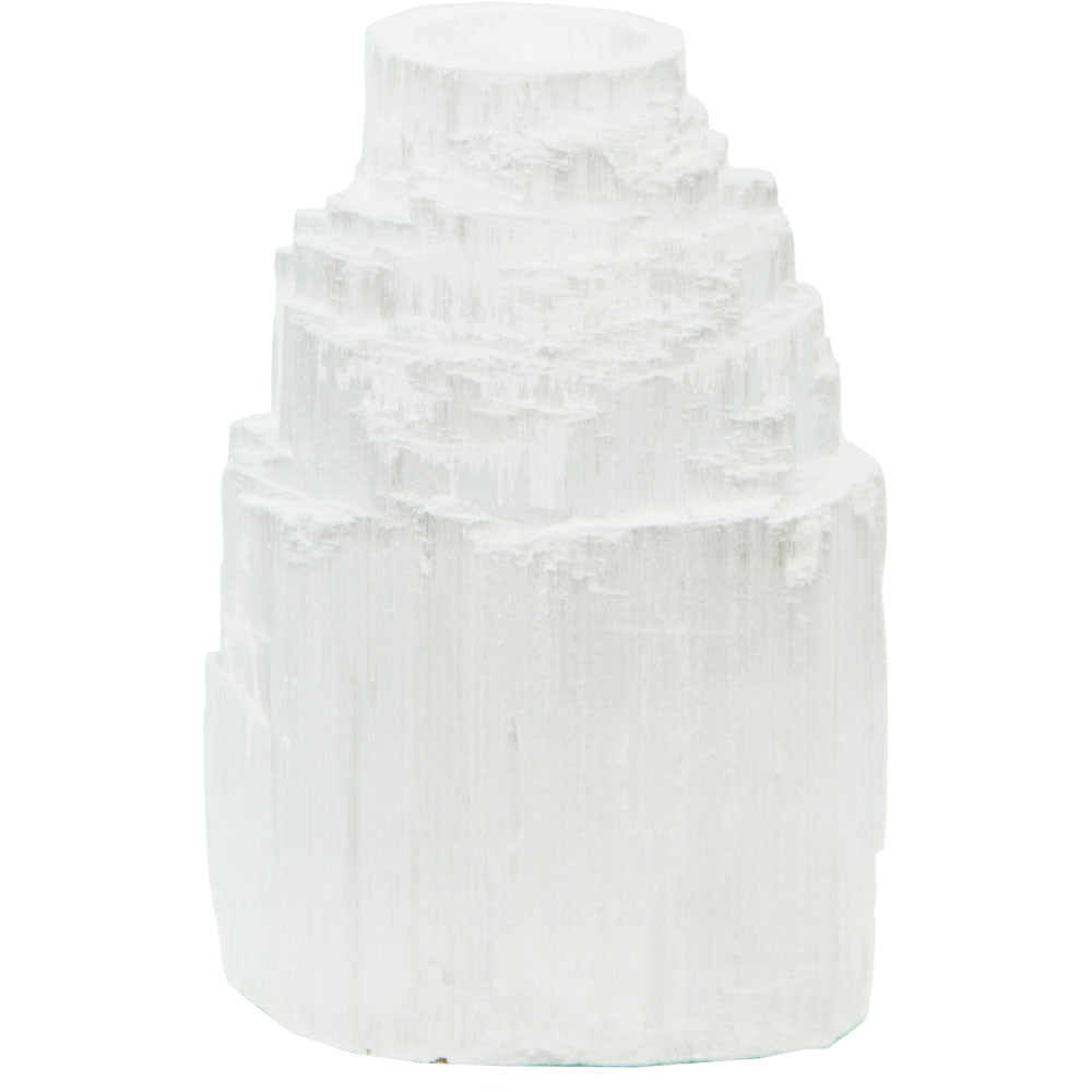 Selenite Candle Holder 2.5""