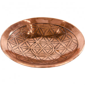 Copper Engraved Flower of Life