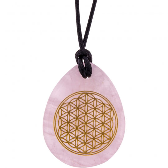 Flower of Life Rose Quartz Necklace