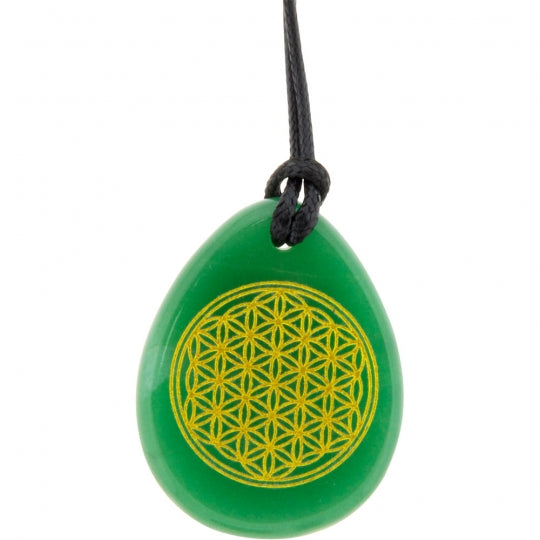Flower of Life Aventurine Necklace