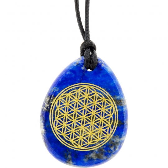 Flower of Life Lapis Necklace