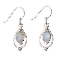 Teardrop Moonstone Silver Earring