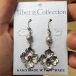 Pearl and Amethyst Floral Earring