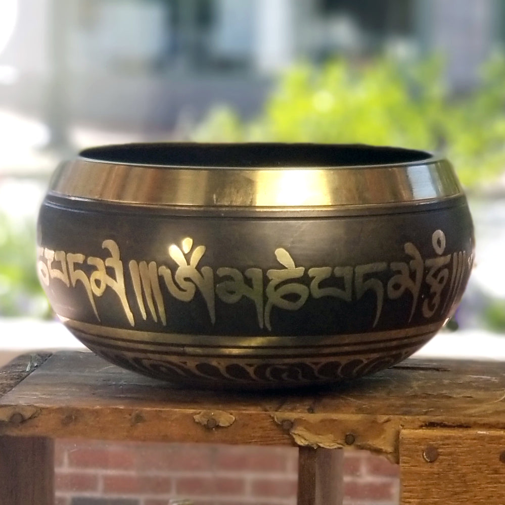 Singing Bowl with Om