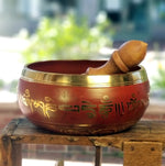 Singing Bowl with Five Buddhas