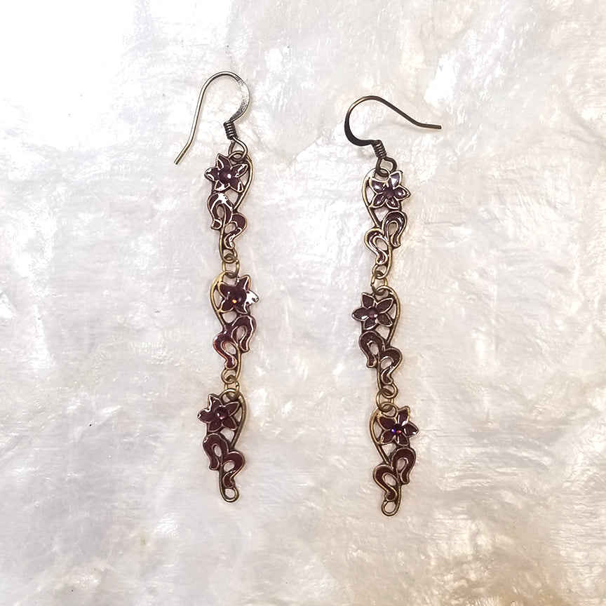 Anne Koplik Flower Vines Earrings