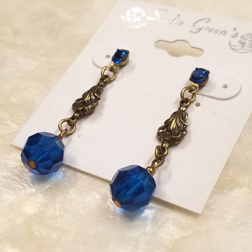 Blue Vintage Inspired Earrings