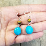 Tiger's Eye and Howlite Drop Earring