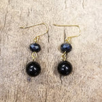 Black Onyx and Gold Vermeil Earring