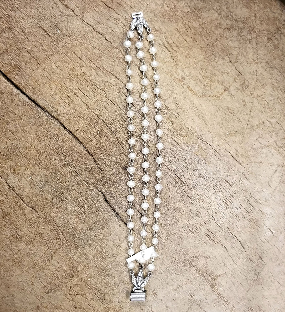 Anne Koplik Pearl and Crystal Beaded Bracelet