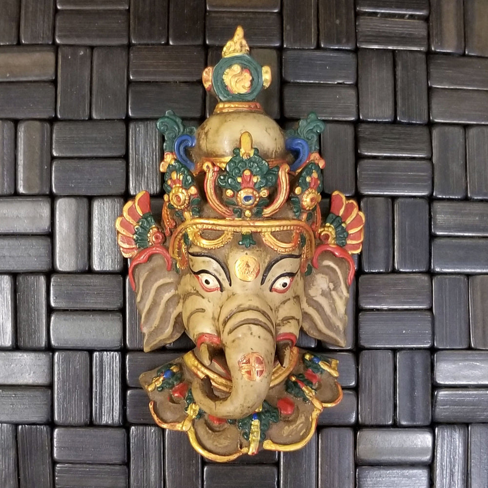 Ganesh Multicolored Wall Hanging 6.5""