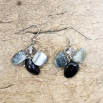 Silver, Gemstone, & Crystal Earring