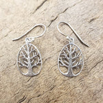 Tree of Life Silver Earring