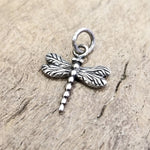 Dragonfly Silver Pendant .75""