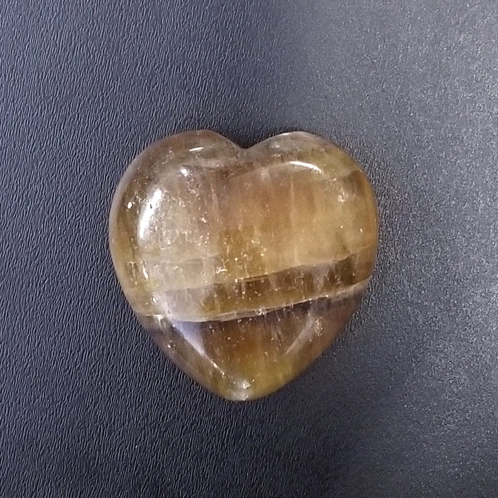 Banded Smoky Quartz Heart