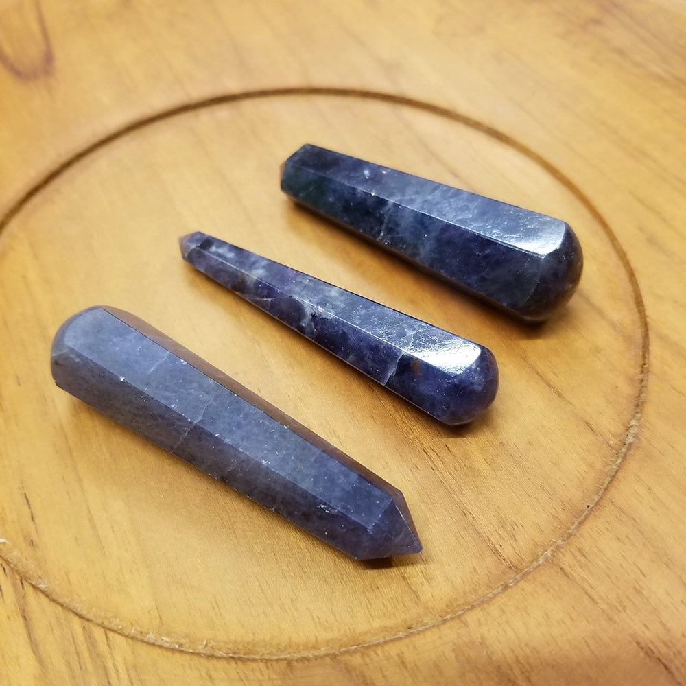 Iolite Faceted  Wand