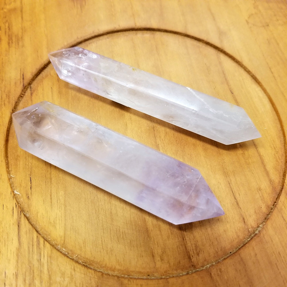 Amethyst Faceted Double Pointed Wand