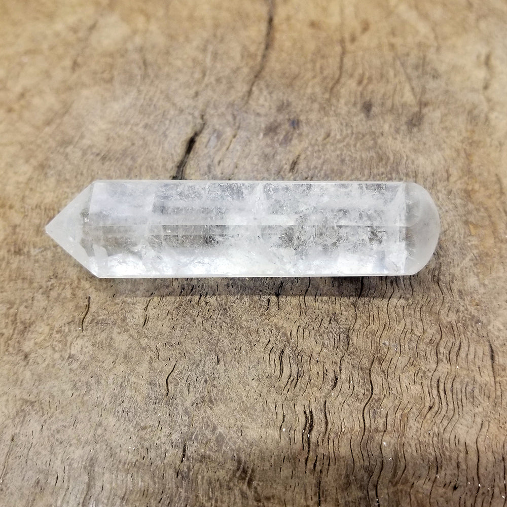 Clear Quartz Faceted Wand