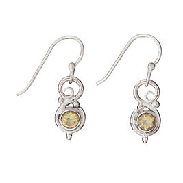 Citrine and Silver Earring