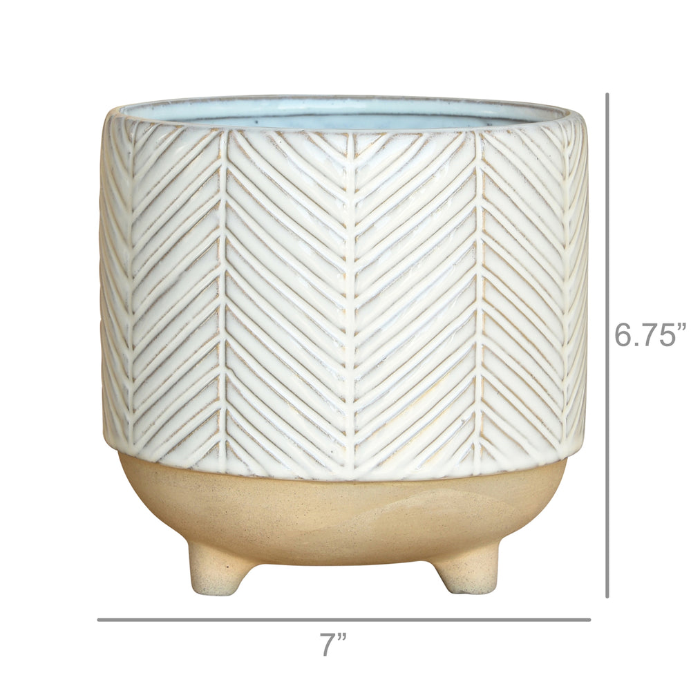 Chevron Cachepot, Assorted Sizes