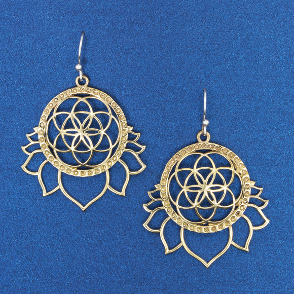 Seed of Life & Lotus Earring